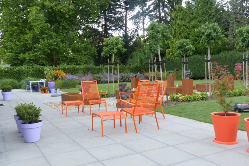groot terras tuin